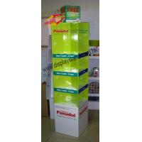 Best 4C offset printing Cardboard Floor Display Stand for product,with shelf wholesale