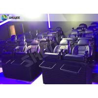 Best SGS Certification 5D Cinema Movies Theater 3 Seat Black Motion Chairs Genuine Leather wholesale