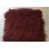Best Bed Throw Blanket Mongolian Sheepskin Rug Warm Soft With Raw / Dyed Color wholesale