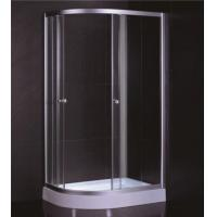 Best D Sector Shape Glass Shower Cabin Framed Corner Shower Cubicle Space Saving wholesale