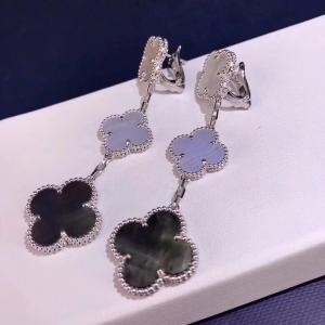 Best Van Cleef & Arpels 18K Gold Diamond Earrings / Magic Alhambra Earrings With Gemstone wholesale