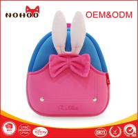 Best Pink Rabbit Lightweight Children Travel Backpack With Pretty Bowknot / Grab Handle wholesale
