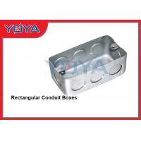 China Electrical Conduit Steel Boxes , US Standard Rectangular Conduit Boxes 2 x 4 on sale