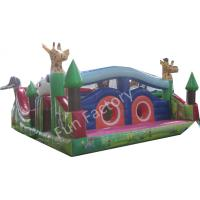 Cheap Gaint Inflatable Bounce House Combo , Inflatable Slide Obstacle Game Slide wholesale