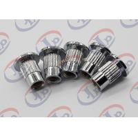 Best Lathe Machining Turned Metal Parts Chromium Plated Iron Nuts With Through Thread wholesale