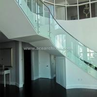 Cheap Indoor Standoff Glass Railing Stainless Steel Staircase Railing Price India for sale