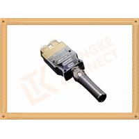Best Golden Plated Metal 16 Pin Obd Connector J1962 OBD Male Connecor Housing Strain Relief wholesale