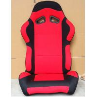 Best Black And Red Sport Racing Seats Universal Cars Parts Foldable With Safety Belts wholesale