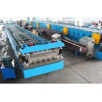 11KW X 2 Floor Deck Roll Forming Machine Chains Drive Wall Board Structure
