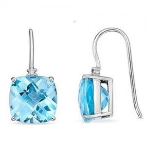 Best Blue Topaz & Diamond earring wholesale