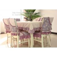 Best 70 inch oblong polyester tablecloths and quilted chair covers for dining table, wholesale