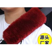 Best Warm Soft Washable Sheepskin Seat Belt Strap Covers For Car / Truck / Auto wholesale