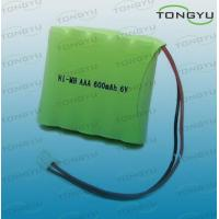 China AAA NiMh Rechargeable Battery Pack 600mAh 6V with High Rate Charge / Discharge on sale