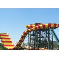 Best Commercial Fiberglass Water Slides , Adult Giant Boomerang Water Park Rides wholesale