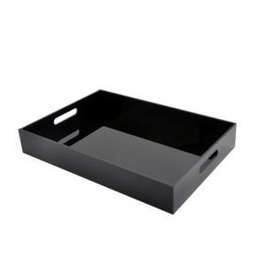 Best 16x12x2inch 5mm PMMA Cast Custom Plexiglass Clear Acrylic Tray With Handles wholesale
