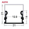 AL2114 Led Aluminum profiles LED extrusion profiles,LED profile for led light,LED Aluminum profile PC cover led channel