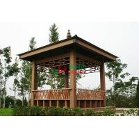 Best WPC Asian Style Pre Built Gazebos , Ready Made Gazebo With Back Bench And Decoration wholesale