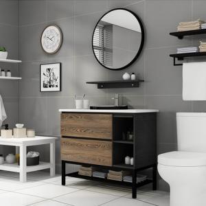 Best Natural Jade Transitional Bathroom Vanities With Transitional Shaker Door wholesale