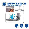 Buy cheap Fast Seal repair tape pipe wrapping for leaking fix fiberglass waterproof from wholesalers