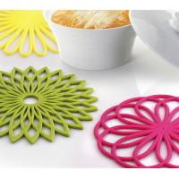 Best FDA  Silicone Flower Trivet Mat - Premium Quality Insulated Flexible Durable  No pollution, good for baby wholesale