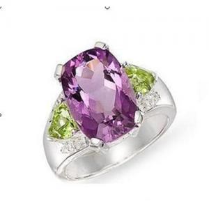 Best Amethyst peridot diamond ring wholesale