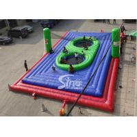 Cheap Commercial grade adults big inflatable bossaball court with center trampolines for sale