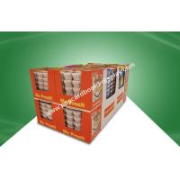 China Glossy / Matt PP Laminated Cardboard Paper Dump Bin Display For Retail Food Products on sale