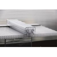 Cheap U Lock Corrugated Polycarbonate Sheets R Structure Shape OEM / ODM Available for sale