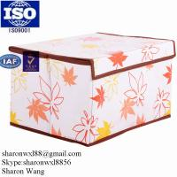 Best Plain fabric recycled plastic drawer storage box with dividers & handle wholesale