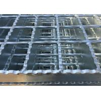 Best Galvanized Serrated Steel Grating Anti Slip Welded Steel Silver / Black Color wholesale