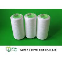Cheap Pure White TFO Plastic Cone Spun Polyester Sewing Thread 20s / 2 Packing By PP Bag for sale