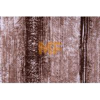 Polyester Warp Knitting Striped Upholstery Fabric With Soil Release Function