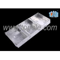 Quality Electrical Metallic Ceiling Outlet Box Covers 1 + 1 + 1 Gang Conduit wholesale