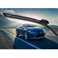 Best Winter Car Window Wiper Blades , Black Flat Wiper Blades With POM Adapter wholesale