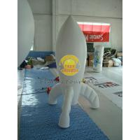 Best Durable High quality 0.28mm PVC Advertising Customized Rocket Shaped Balloons for Opening Event PRO-10 wholesale