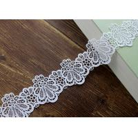 Best Azo Free DTM Guipure Embroidered Dress Lace Trim Ribbon With High Color Fastness wholesale