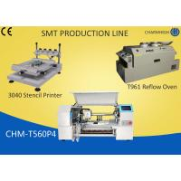 Best 3040 Stencil Printer + 60 Feeders Pick and place Machine + T961 Reflow Oven , SMT production Line wholesale