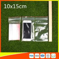 Best 10 x 15 Clear Reclosable Zipper Plastic Bag / Self Sealing Poly Bag wholesale