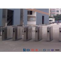 Cheap Cold Rolled Steel Luxury Flap Barrier Gate , Pedestrian Access Control Turnstile for sale