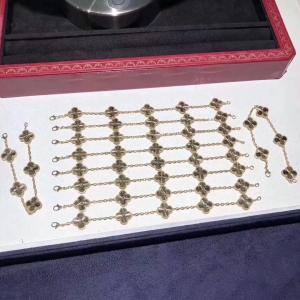 Best van cleef & arpels jewelry for sale Magnificent Van Cleef Jewelry , 18K Yellow Gold Vintage Alhambra Bracelet wholesale