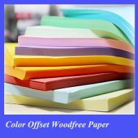 Cheap color offset printing paper of high quality china for sale