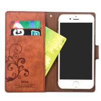China Excellent quality genuine leather wallet case for iPhone 6 Plus with magnetic holder on sale