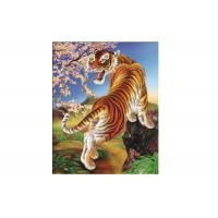 Cheap Vivid Tiger Image 3d Lenticular Image For Home 0.76mm Thickness 3d Animal Pictures for sale