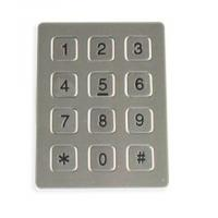 Buy cheap Ageing Resistance 7 Pin Vandal Proof Keypad For Weatherproof Telephone from wholesalers