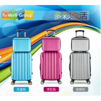 China Durable Pull Rod Box Travel Trolley Bags ABS Luggage With Zipper SGS on sale