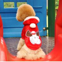 Custom made Cotton and polyester Christmas dog clothes costume for Poodles