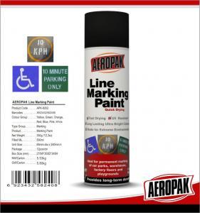 Cheap Weather Proof Road Marking Spray PaintFor Concrete / Asphalt / Glass for sale