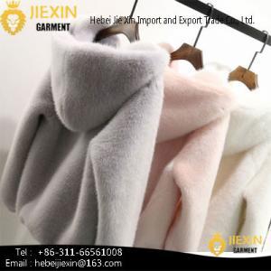 China Fashion Women Faux Mink Fur Coat on sale