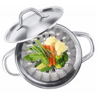 Best Multifunction Foldable Stainless Steel Food Steamer , Vegetable Steaming Basket wholesale