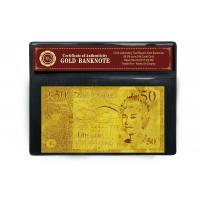 Buy cheap £50 Pounds Plated 24K Gold Banknote from wholesalers